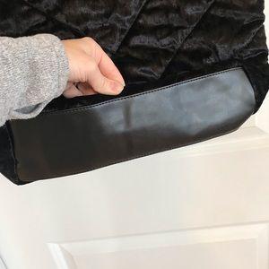 Victoria's Secret Bags - NWT Super cute black crushed velvet tote bag